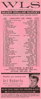 Pop Charts 1966 890 Wls Chicago Silver Dollar Survey 1 28 1966 Beatles