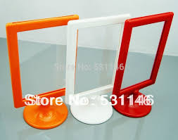 Plastic A4 Display Stands Custom 32PCSABS Plastic Digital Photo Frame Poster Advetising Price Tag A32