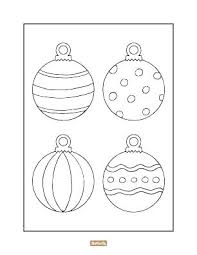 Ornament Printable Templates Christmas Ornaments Coloring Pictures