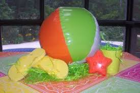 Beach Ball Decoration Ideas Beach ball and sandals will make a great centerpiece for tables at 21