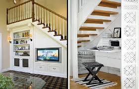 Creative Storage Space Under Stairs Design Ideas