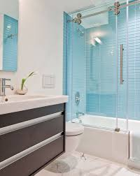 blue bathroom tiles. Gorgeous Bathroom Decoration Using Glass Tile Shower Wall : Engaging Picture Of Modern Blue Tiles