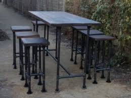 high gas pipe bar table this impressive industrial style table is produced using 33 7mm mild steel gas pipe the table top is produced from 44mm 2par