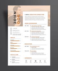 Executive Resume Design Creative Executive Resume CV Design Template PSD File Good Resume 1