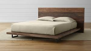Atwood Reclaimed Wood Queen Bed + Reviews | Crate and Barrel