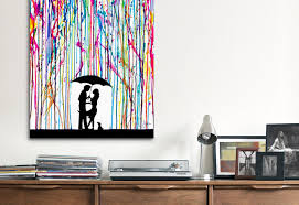 modern canvas wall art creation