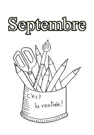 09 Septembre Coloriage Mois De L Ann E Coloriages Pour Enfants