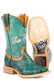 Tin Haul Womens Paisley Too Blazing Trail Sole Cowboy Boots