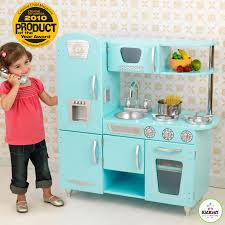 Retro Play Kitchen Set Kidkraft Blue Vintage Kitchen 53227 Play Kitchens At Hayneedle