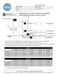 Calf Measurement Chart 22 Printable Length Measurement Chart Forms And Templates