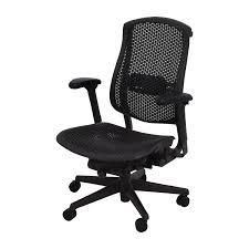 herman miller herman miller biomorph ergonomic black desk chair dimensions