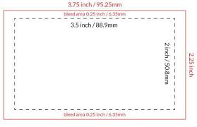 Business Card Templates Sizes Design Printing The Basics