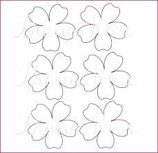 Paper Flower Templates Free Download Printable Flower Pattern Paper Rose Printable Template Flower Free