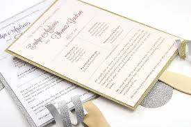 Wedding Program Fans Cheap Make Your Own Glitter Layered Wedding Program Fan