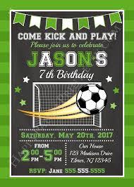 Soccer Party Invitations Soccer Invitation Soccer Birthday Invitation Sports Invitation