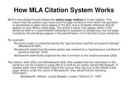 Ppt Review Of Mla In Text Citation Format Powerpoint Presentation