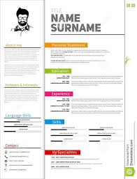Modern Resume Sheet Resume Minimalist Cv Resume Template With Simple Design