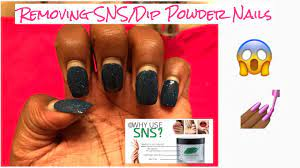 how to properly remove sns dip powder