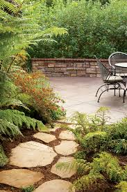 flagstone patio with grass. Patio Entry Flagstone With Grass