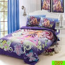 cartoon erfly girl twin single bed cotton 3pcs bedding set for barbie comforter idea 18