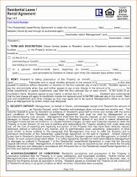 Florida Residential Lease Agreement Word Document Elegant 1 Year ...