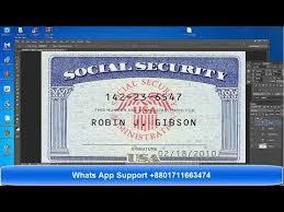 Social Security Template Editable Ssn Easy Downloadonline Psd Card