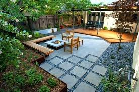 Rock Patio Landscaping Stone Patio Designs With Fire Pit Great Ideas