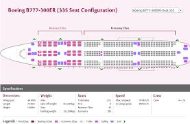 qatar airways airlines boeing 777 300er aircraft seating chart
