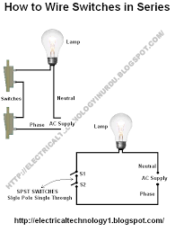 how to wire switches in series ( basic home electrical wiring Light Switch Piping Diagram how to wire switches in series ( basic home electrical wiring diagrams) requiurments 1-Way Light Switch Diagram