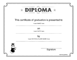 diploma word template diploma template education world