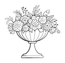 Coloring Pages Of Flower Pots Guccisaleauinfo