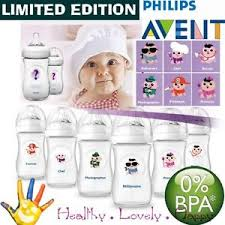 Avent Decorated Bottles 10000 x AVENT Bottle Feeding NATURAL with teat 100m1000060ml DECORATED 43