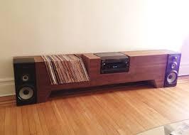Cabinet Record Player Cush Design Studio Furniture Cardboard And Walnut Record Player