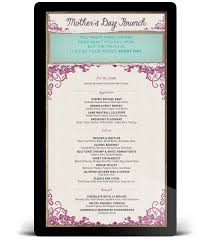 breakfast menu template ce labs complete digital signage solutions mother s day menu