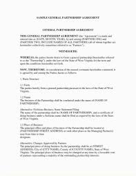 Sample Partnership Agreement Form Impressive Free Partnership Agreement Template