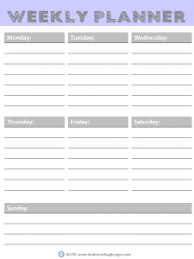 Weekly Planner Free Printable Pdf Format Download London Calling