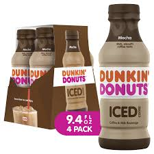 America's iced coffee is now bottled and ready to go. Dunkin Donuts Mocha Iced Coffee Bottles 9 4 Fl Oz 4 Pack Coffee Meijer Grocery Pharmacy Home More
