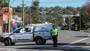 road rage drama watched by shoppers illawarra mercury contractors work on the powerlines after the incident picture adam mclean