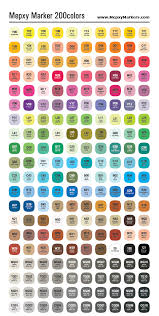 Blick Marker Color Chart Artist Loft Alcohol Markers Color Chart Www