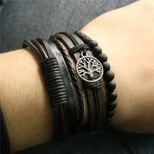 mens <b>leather bracelets</b>