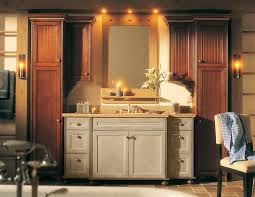 french country lighting ideas. bathroom:dim lighting of french country bathroom with freestanding vanity and travertine floor ideas h