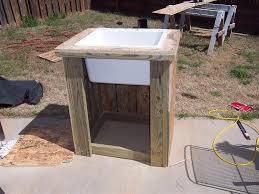 outdoor garden sink would be nice with a farm door style cupboard on front