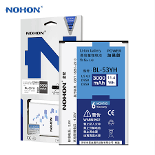 <b>Original</b> NOHON <b>Battery</b> Bateria <b>BL 53YH</b> For <b>LG G3</b> D850 D851 ...
