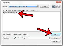 Use Email Template Outlook 2013 How To Create An Email From A Template In Outlook 2013