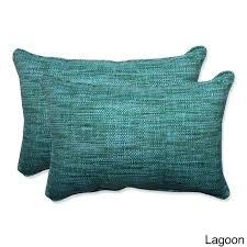 pillow perfect outdoor cushions pillow perfect outdoor indoor over sized rectangular throw pillow set of 2