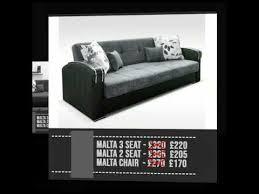 malta grey 3 seater sofa bed you