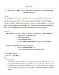 Resume Format For Mba Student Resume Template Easy Http Www