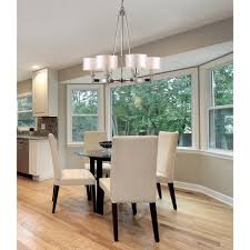 pembroke 6 light chandelier in polished nickel