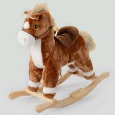 kids rocking horse toy neighing trotting sound childrens