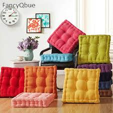 floor cushions. Thick Corduroy Elastic Chair Cushions For Kitchen Solid Color Seat Cushion Square Floor 40